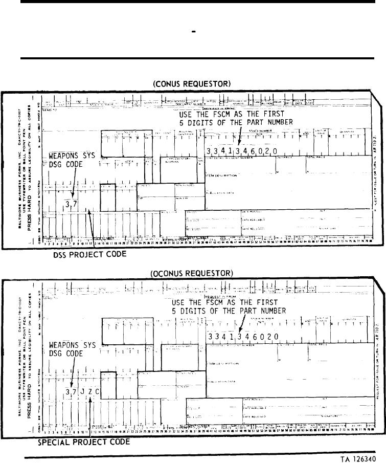 SAMPLE FORMAT - DA FORM 2765 PART NUMBER REQUEST