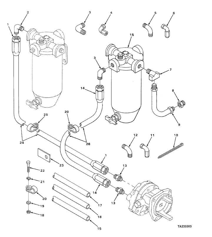 figure 39  fuel filter and strainer lines