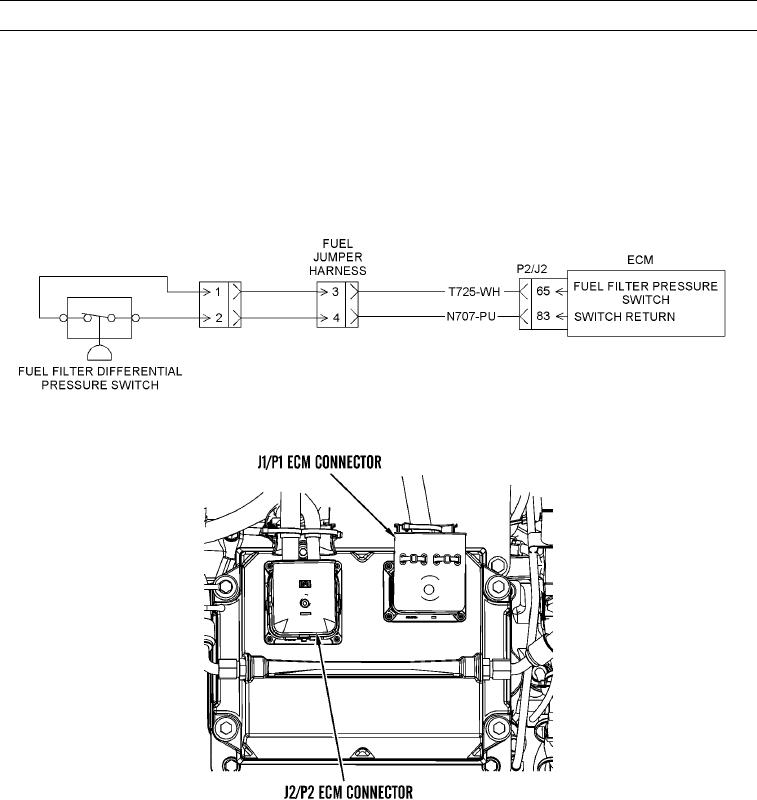 fuel filter differential pressure switch circuit test